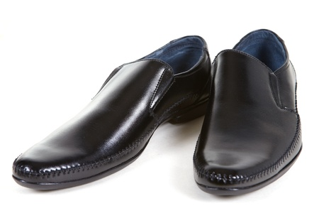 Black man shoes on a white background photo