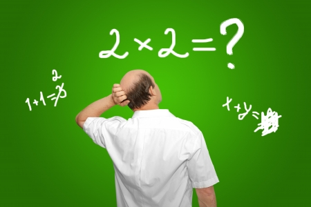 formulation: The businessman looks at the equation and thinks