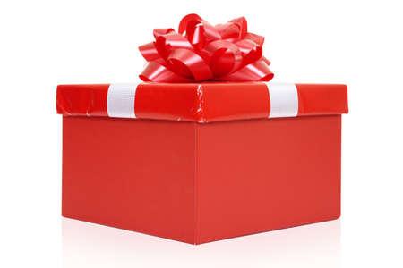 fancy box: Red fancy box on a white