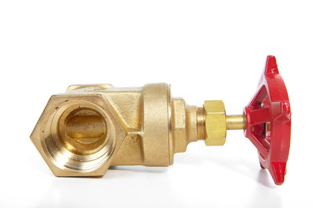 bronzy: The tool of the plumber on a white background Stock Photo