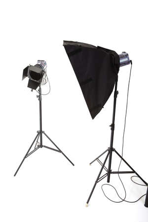 The flash bulb on a white background photo