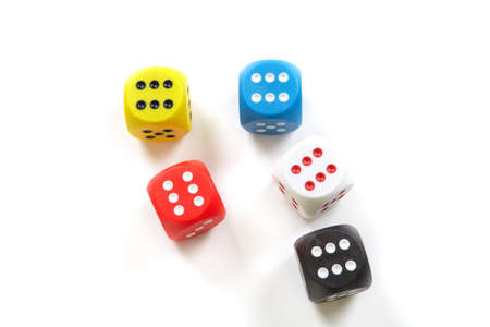 snatch: To play dice. To snatch a large sum Stock Photo
