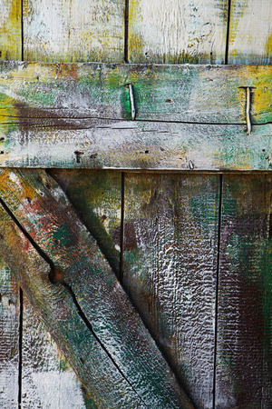 Stained wooden door. Wood texture with natural patterns photo