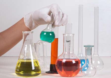 A scientist man working in laboratory