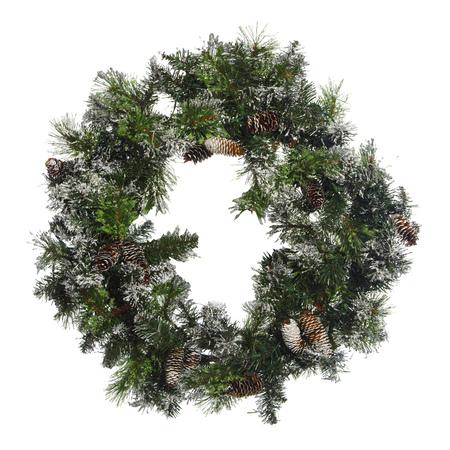 corona navidad: Hermosa corona de Navidad aislado en el fondo blanco