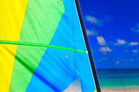 Yacht at ocean. The Caribbean Sea. Ocean and summer