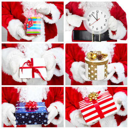 christmas crown: Conjunto de corona de Navidad aislado en el fondo blanco