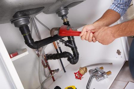 配管と配管のキッチン ツールします。改修。
