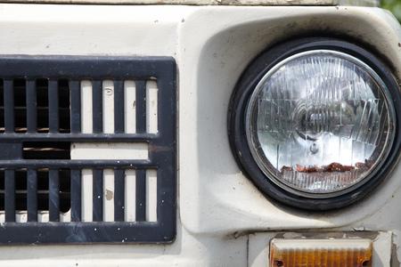 The Headlight of a old retro car Stok Fotoğraf
