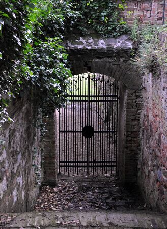 loc: old gate Stock Photo