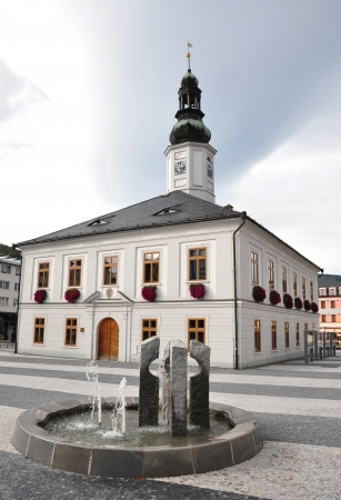 republik: town hall, city - Jesenik, the Czech Republik Stock Photo