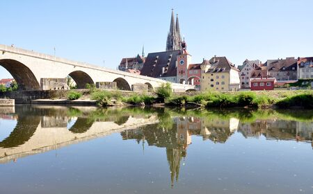 germ free: City Regensburg and Old Bridge, Germany, Europe
