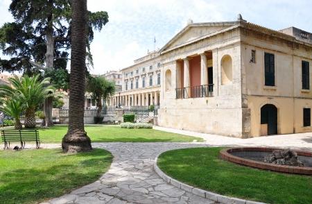 castles needle: castle of Asian Art, Corfu Town, Greece, Europe Editorial