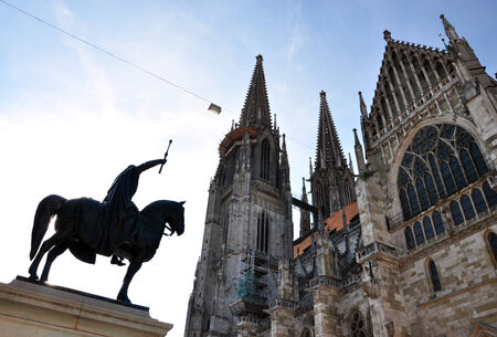regensburg: Cathedral of Regensburg, Bavaria, Germany, Europe