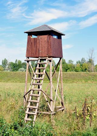 scaling ladder: hunting shelter