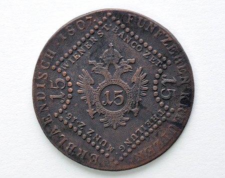 old copper coins of Austria-Hungary - 15 Kreuzer