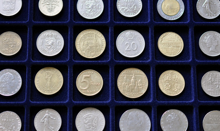numismatic: Numismatic collection of old coin Stock Photo