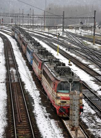 locomotiefdepot Stockfoto