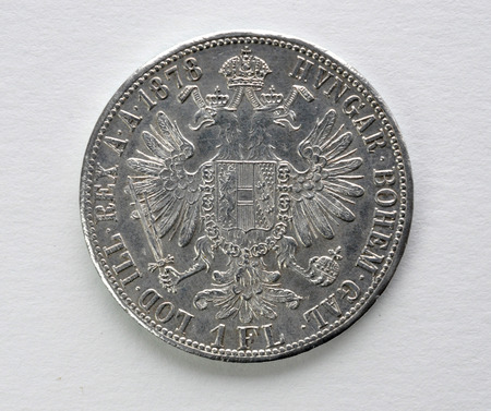 silver coins: Silver coins of Austria-Hungary Stock Photo