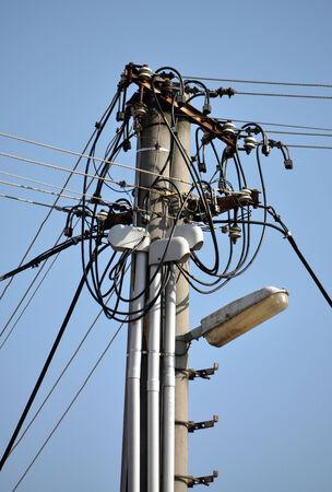 powerlines op de kolom