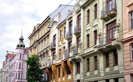 street in the city of Brno, Czech Republic, Europe