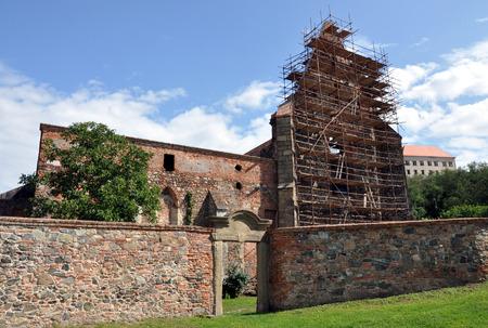 monastery ruins Dolni Kounice Moravia, Czech Republic, Europe