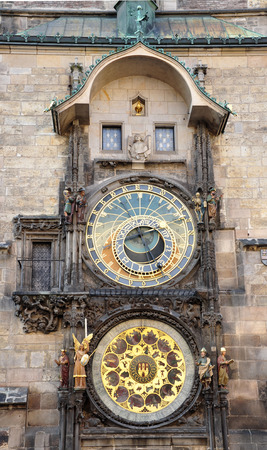 old astronomical clock, Prague, Czech Republic, Europe Stock Photo