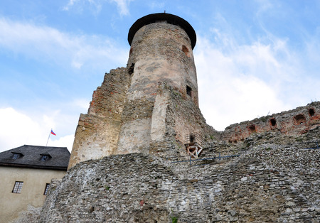 castle and the old tower of the Old Lubovna, Slovakia, Europe