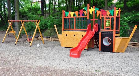 ni�os en recreo: parque infantil
