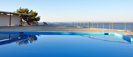 swimm: pool and sea Stock Photo