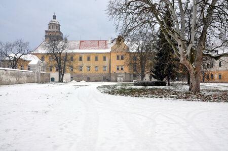 morava: old castle in winter, Moravsky Krumlov, Czech Republic, Europe