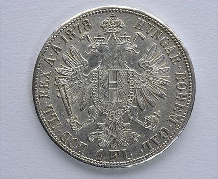 silver coins: Historical Silver coins, Austria - Hungary Stock Photo