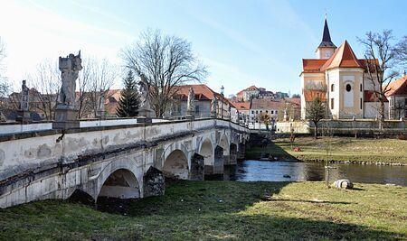 nad': Old Bridge, Namest nad Oslavou, Czech Republic, Europe Stock Photo