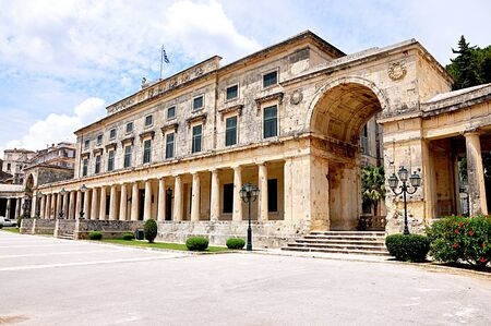 historica: castle town of Corfu the island of Corfu Greece Europe