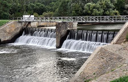 sluice: sluice on the river Svratka, Czech Republic, Europe