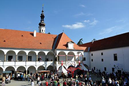 czech women: Castle Oslavany, Czech Republic, Europe Editorial