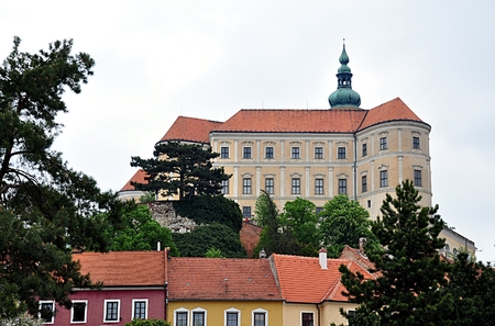 castles needle: Castle and the town of Mikulov, Czech Republic, Europe