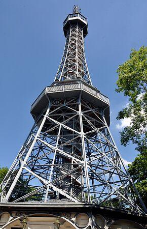 Petrin lookout tower, Prague, Czech Republic, Europe