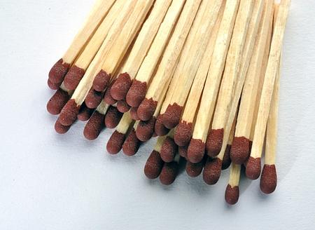 Detailed view of matchsticks