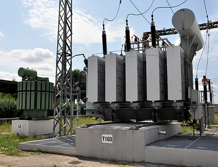 technic: big modern voltage transformer