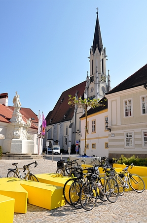 squares, churches and the city of Melk, Austria Europe Editorial