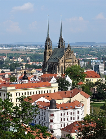 city and cathedral,Brno,Czech republic,Europe