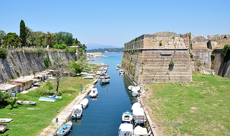castel: castel and fortification , city Corfu, Greece,Europe