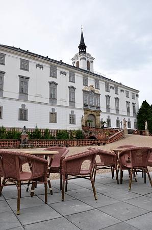 Burg und Stadt Lysice, Tschechische Republik, Europa Standard-Bild - 88382106