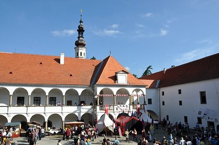 Burg, Stadt Oslavany, Tschechische Republik, Europa Standard-Bild - 88517190