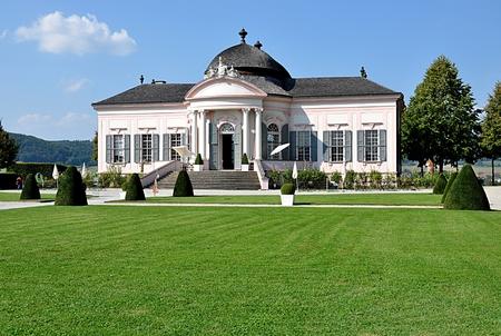 Pavillon im Park, Stadt Melk, Österreich, Europa Standard-Bild - 88661837