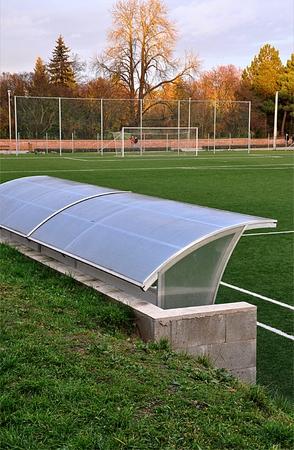 Fußballfeld Standard-Bild - 89739381