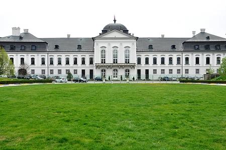 old palace in city Bratislava, Slovakia, Europe Standard-Bild - 104683793