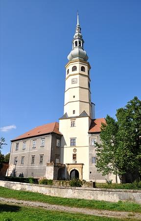 castle and church Tovacov, Czech republic, Europe Standard-Bild - 104683797