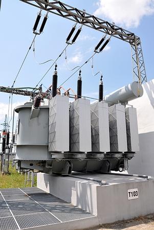 big oil transformers Standard-Bild - 104683807